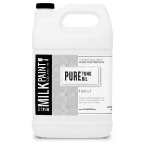 Photo of gallon container of Real Milk Paint Company Pure Tung Oil