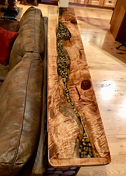 Photo of the finished River Table Top by Jay Seaton