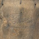 Close up of brown reclaimed wood board