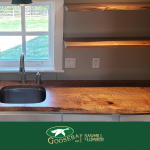 Photo of kitchen with wood countertops
